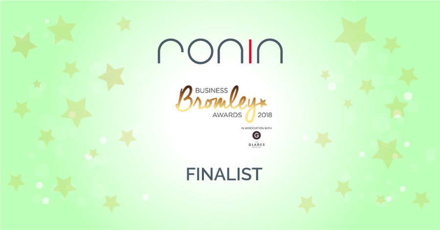 RONIN are delighted to announce that we have been shortlisted in the Bromley Business Awards 2018.