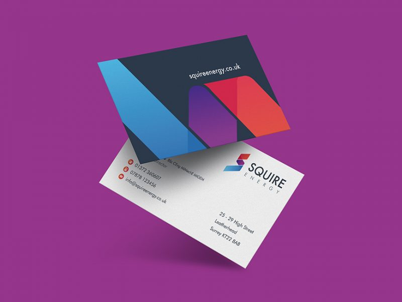 Squire Energy business card design
