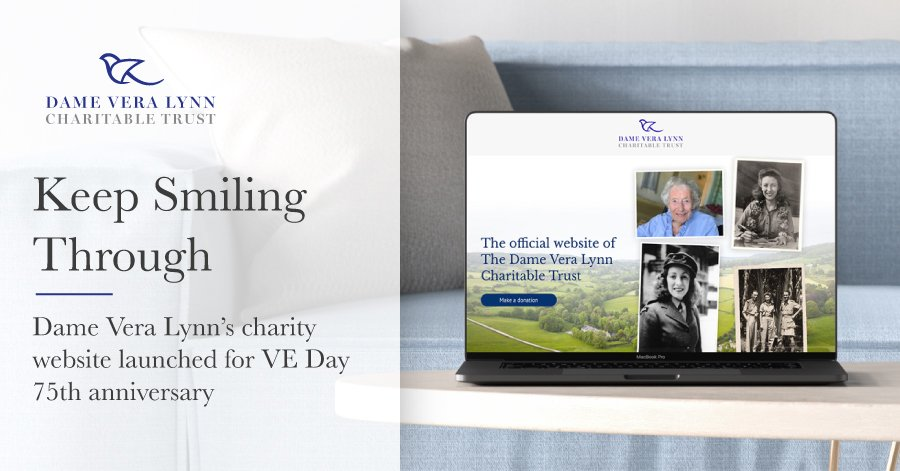 Keep Smiling Through - Ronin designs website for Dame Vera Lynn