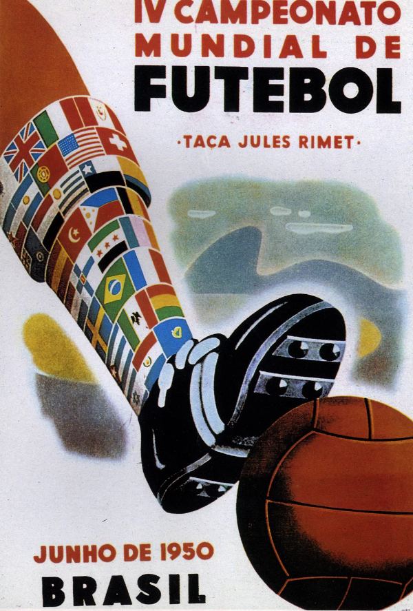 FIFA World Cup Brazil 1950 poster