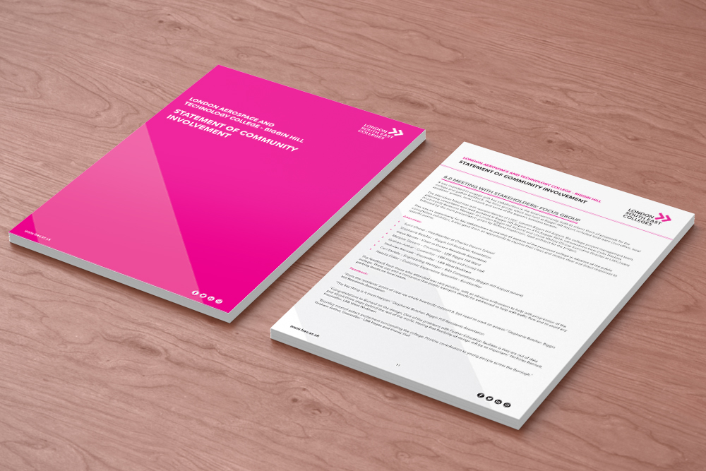 London south east colleges branding on books