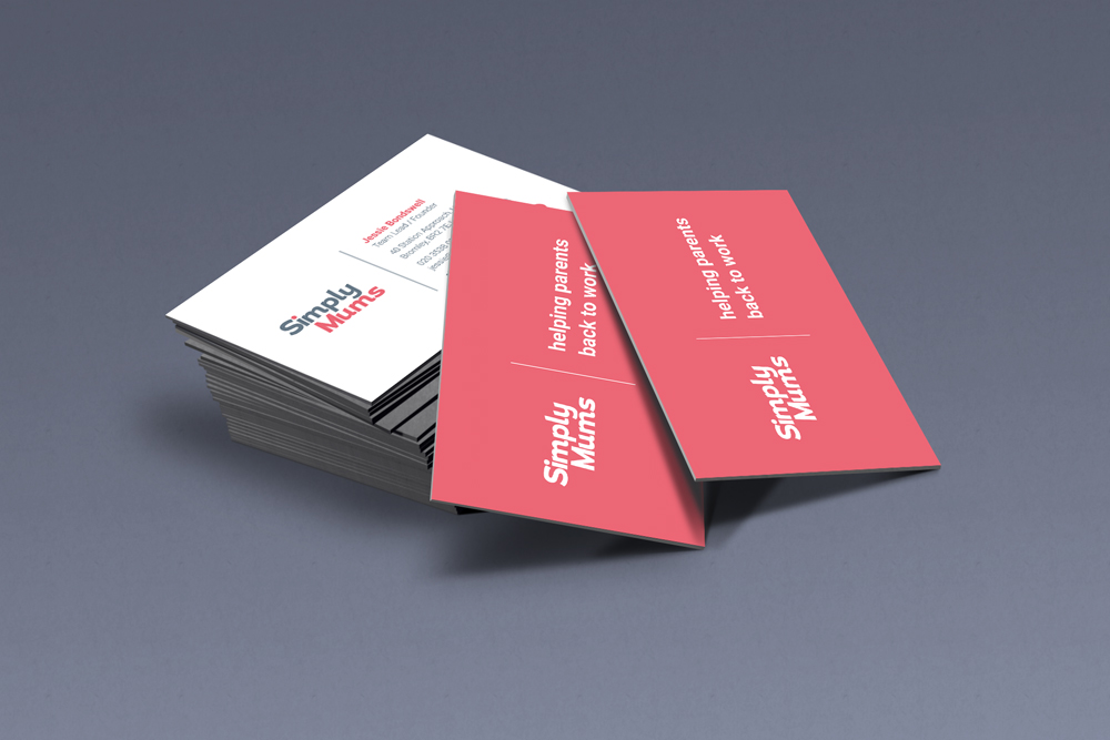 Simply mums business card designs