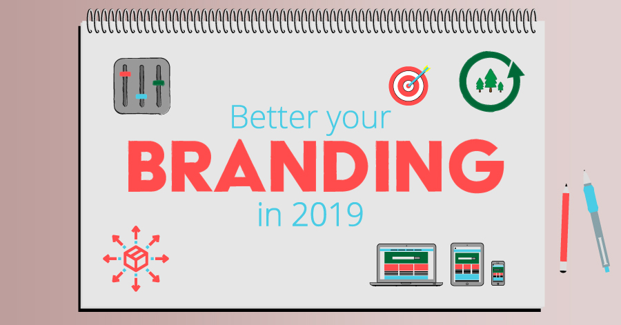 how to better your branding blog graphic featuring a notebook