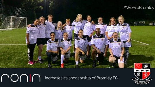RONIN Marketing has increased their sponsorship of Bromley Football Club.