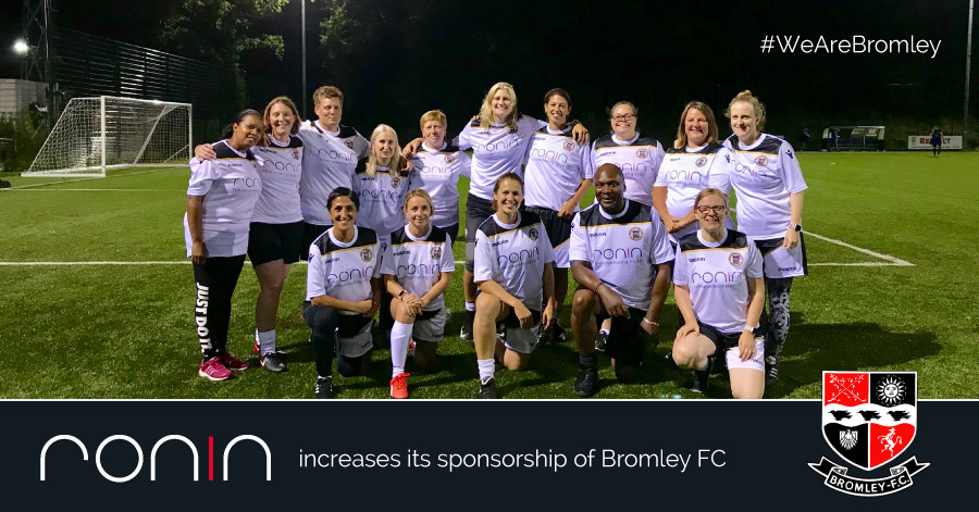 RONIN Marketing has increased their sponsorship of Bromley Football Club.