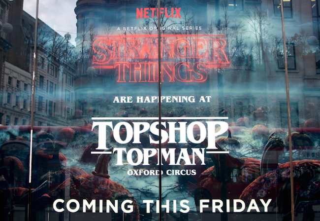 halloween marketing campaigns featuring a Topshop and Stranger Things poster